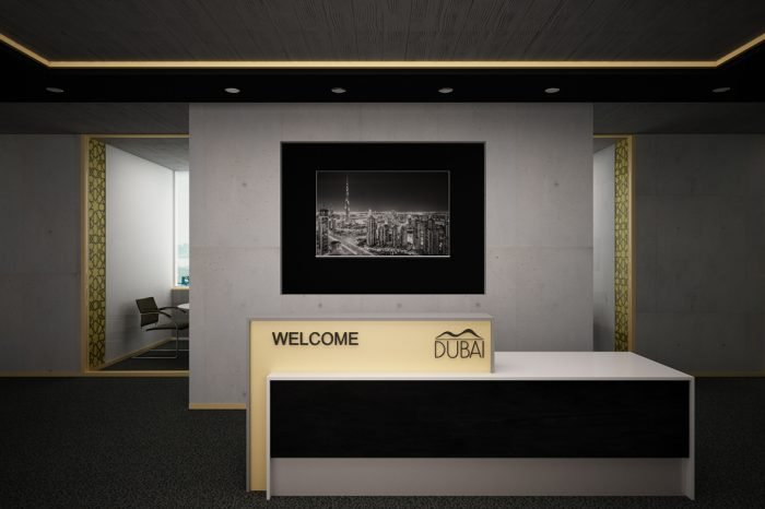 Dubai reception desk